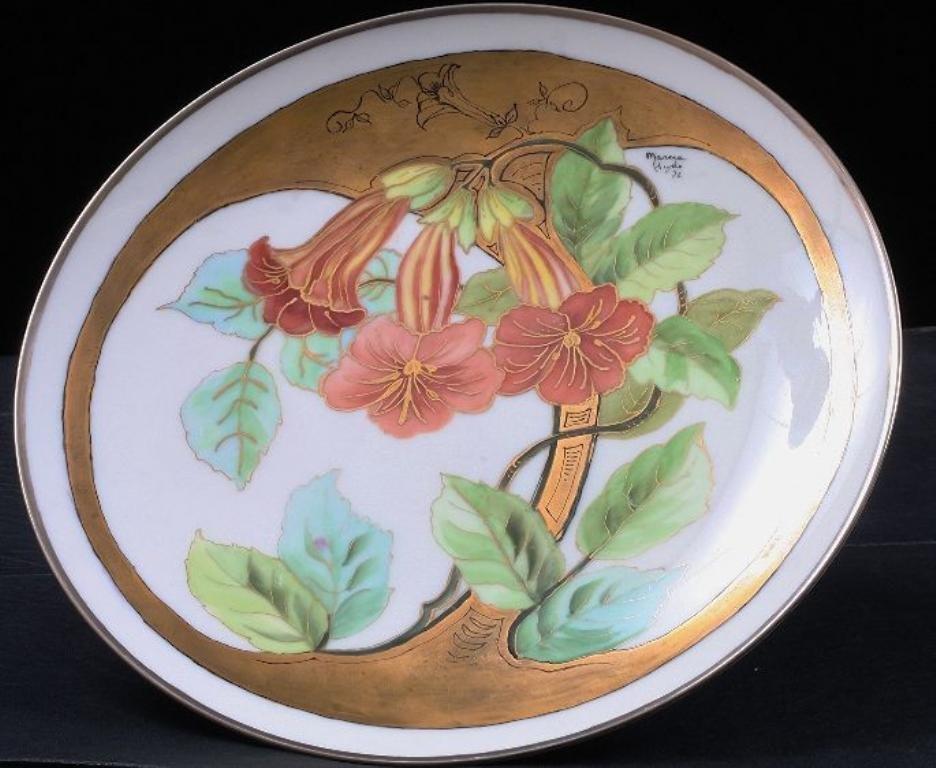 Noritake Japanese Hand Painted Cabinet Plate ED156