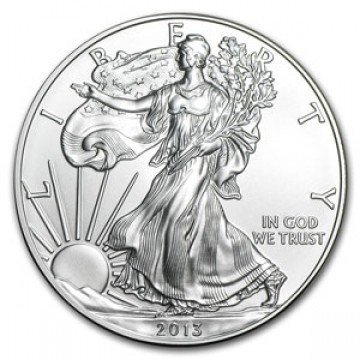 2013 American Silver Eagle Dollar GEM BU Coin