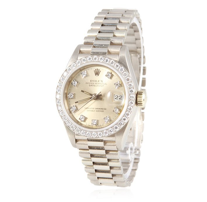 Ladies Rolex 18KT White Gold Diamond DateJust