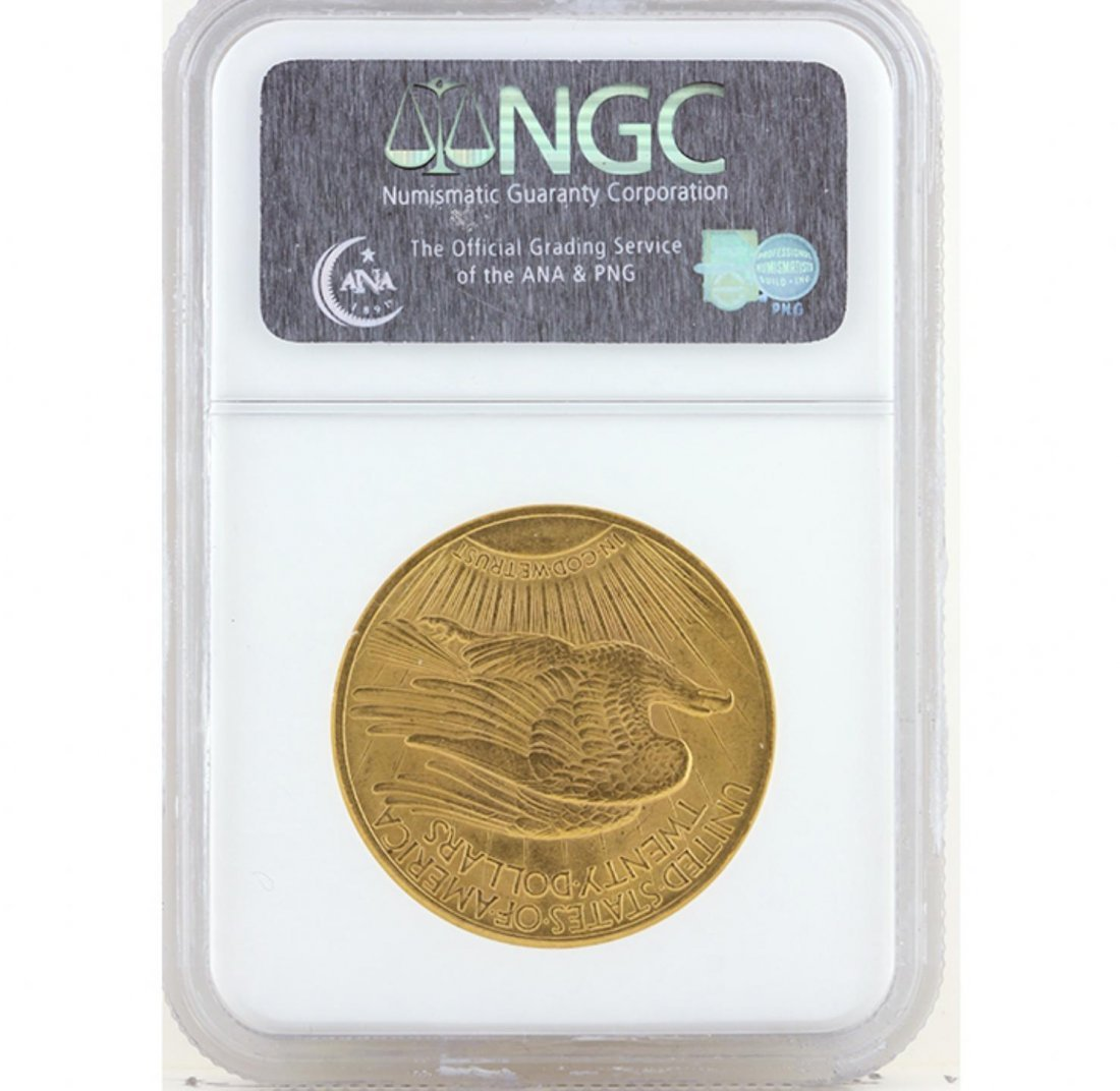 1914 $20 NGC MS63 St. Gaudens Double Eagle Gold Coin - 2