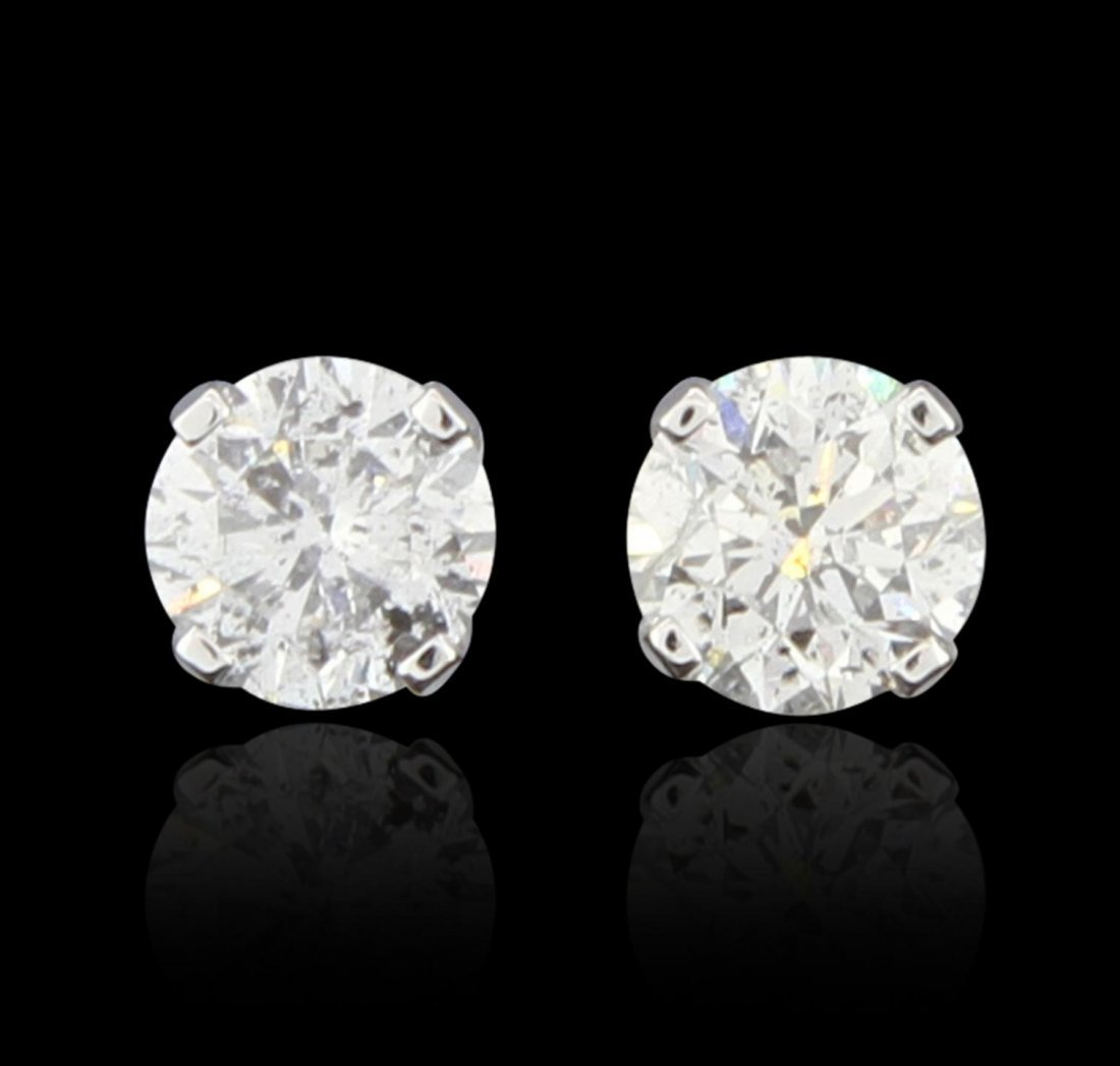 10KT White Gold 0.80ctw Diamond Solitaire Earrings