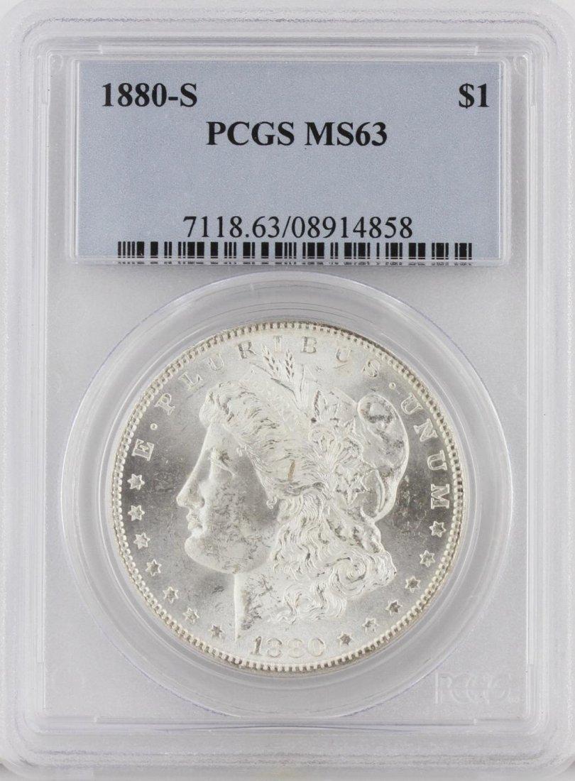 1880-S Morgan Silver Dollar PCGS Graded MS63 SCE1069