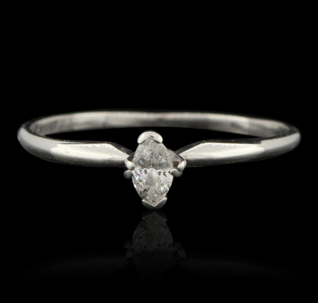 10KT White Gold 0.20ct Diamond Solitaire Ring GB3349