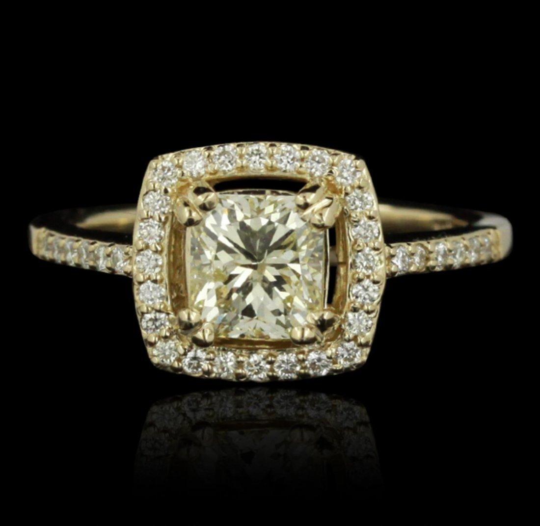 14KT Yellow Gold 1.14ctw GIA Cert Diamond Unity Ring