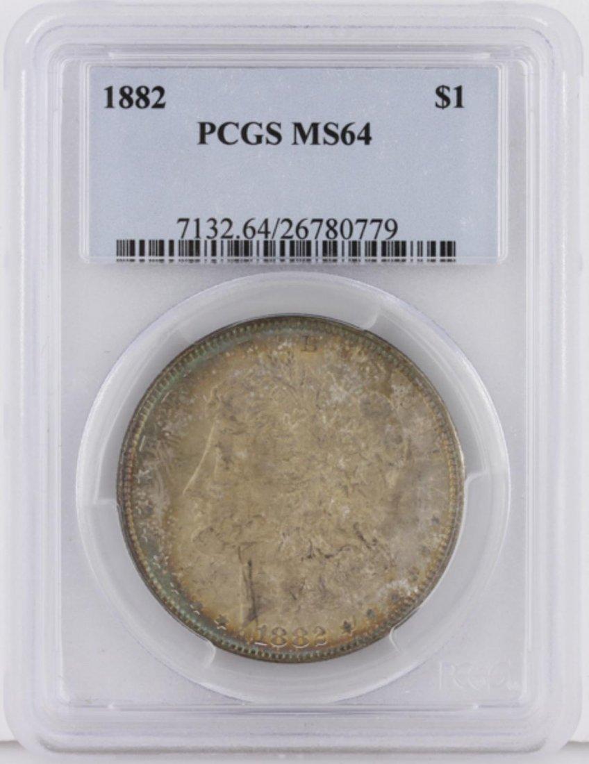1882 Morgan Silver Dollar PCGS Graded MS64 GCE230