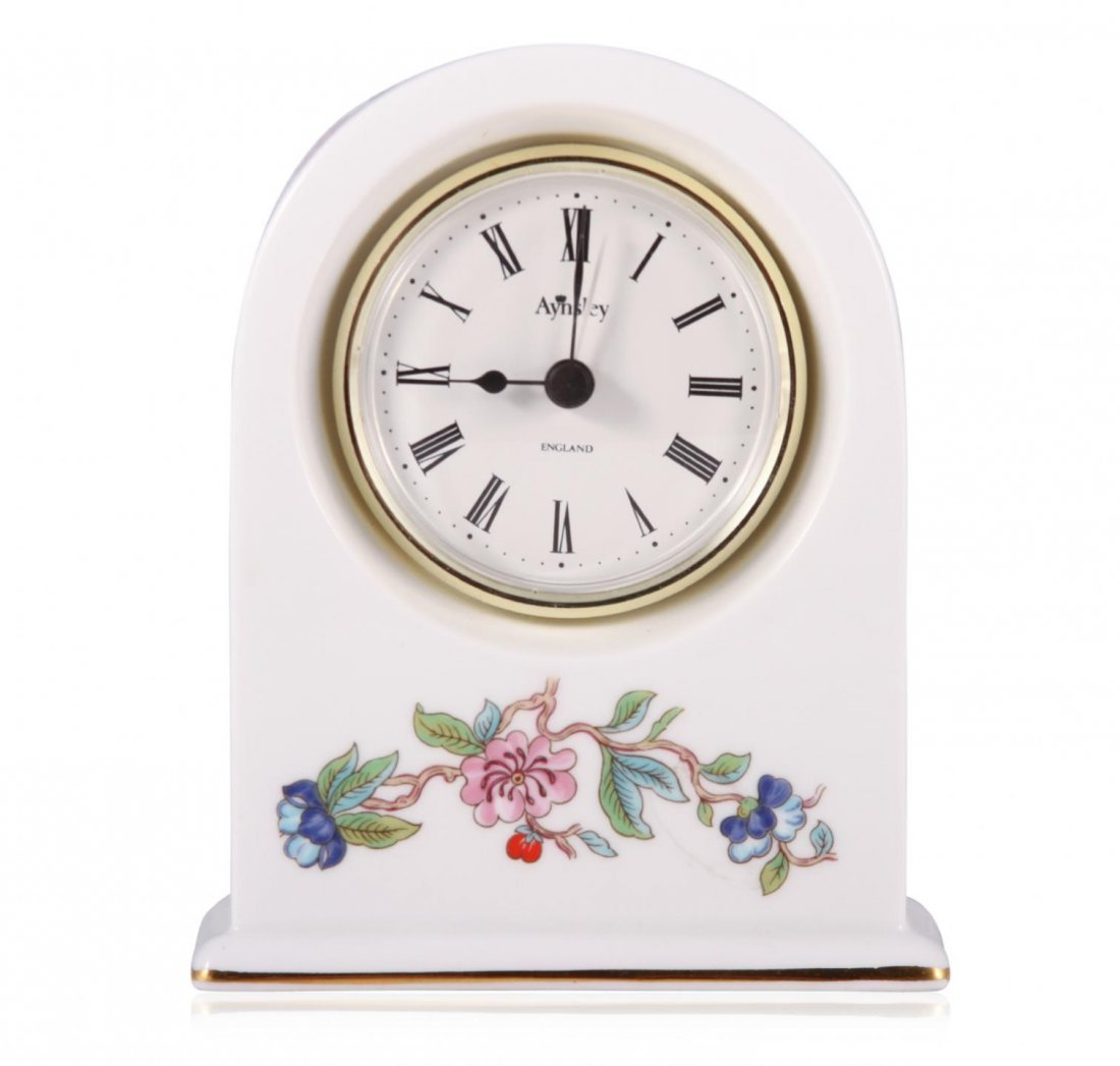 Aynsley Pembroke Fine Bone China Mantel Clock  JRM172