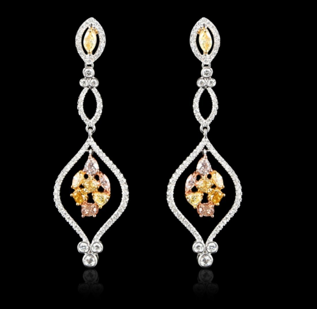 18KT White Gold 1.51ctw Pink and Yellow Diamond