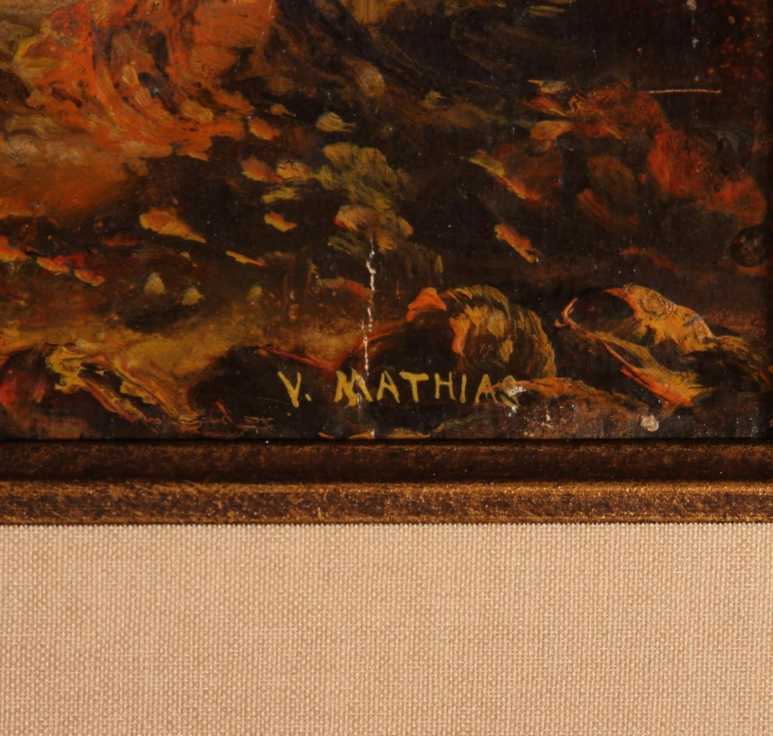 Original Oil Painting by Artist Victor Mathias ca - 2