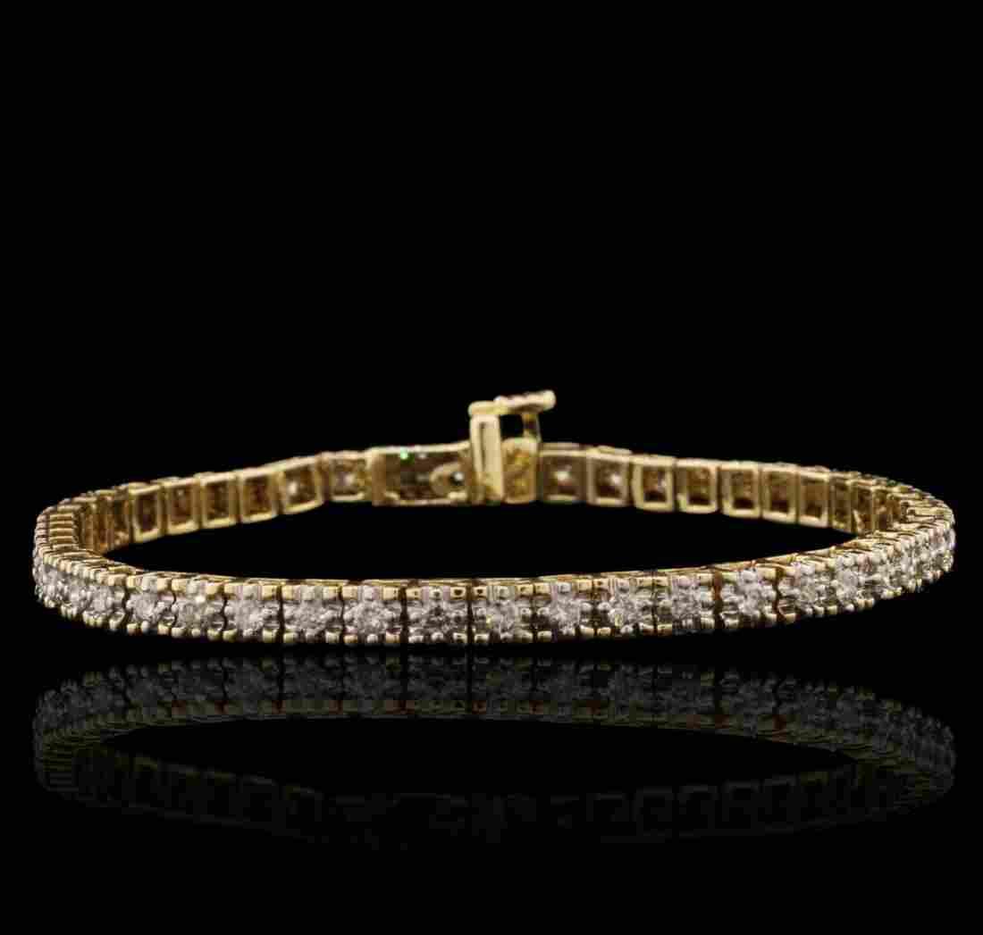 14KT Yellow Gold 2.25ctw Diamond Tennis Bracelet A7369