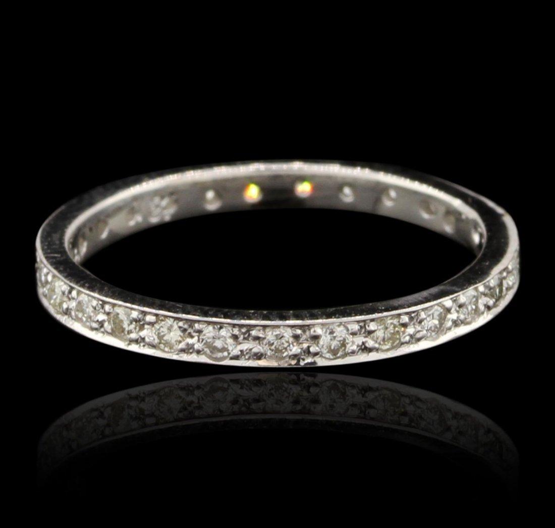14KT White Gold 0.50ctw Diamond Eternity Ring GB4341