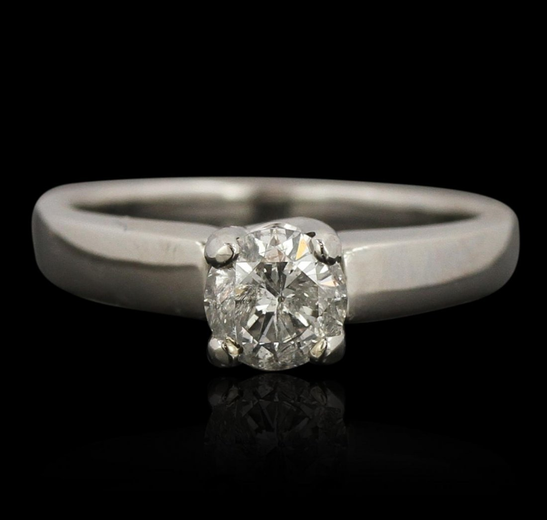 Platinum 0.75ct Diamond Solitaire Ring A7487