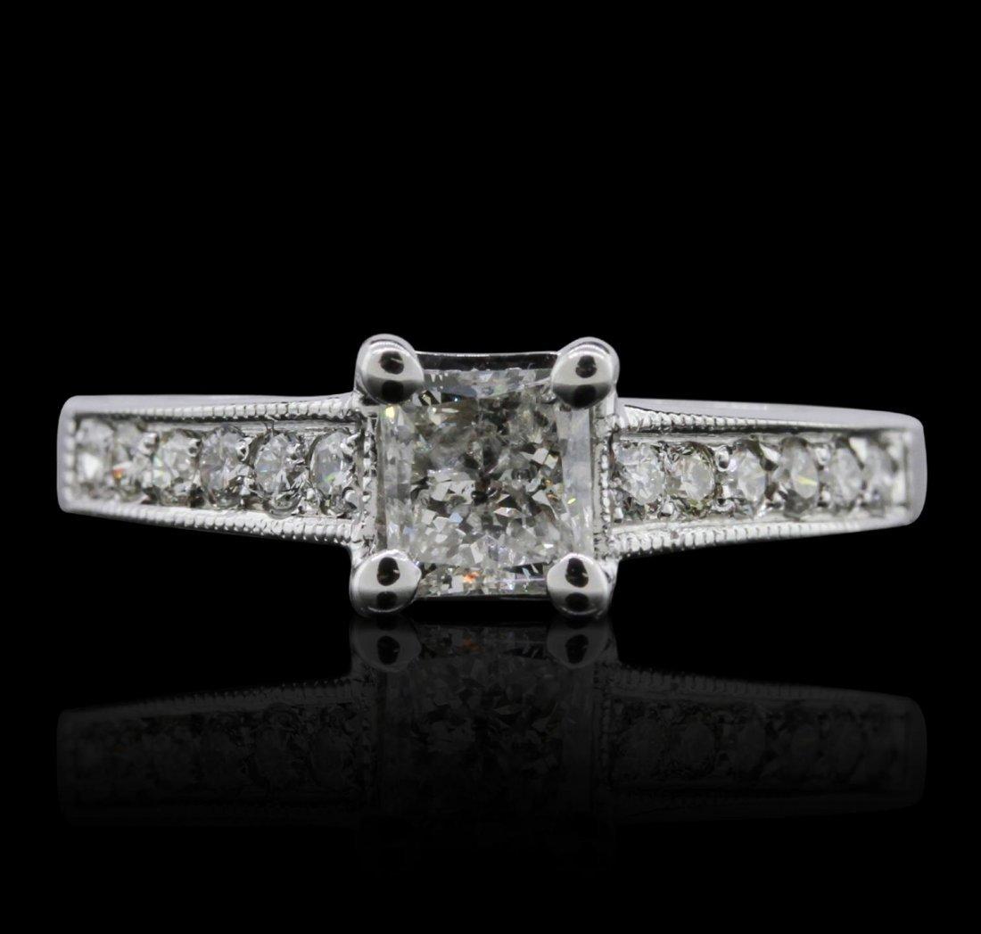 14KT White Gold 0.99ctw Diamond Ring A7856