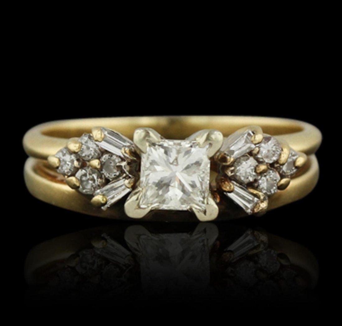 14KT Yellow Gold 0.78ctw Diamond Wedding Set A8572