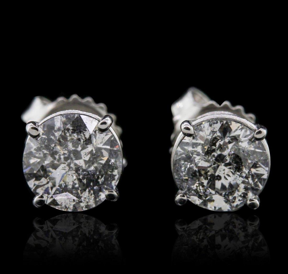 14KT White Gold 2.14ctw Diamond Earrings GB5544