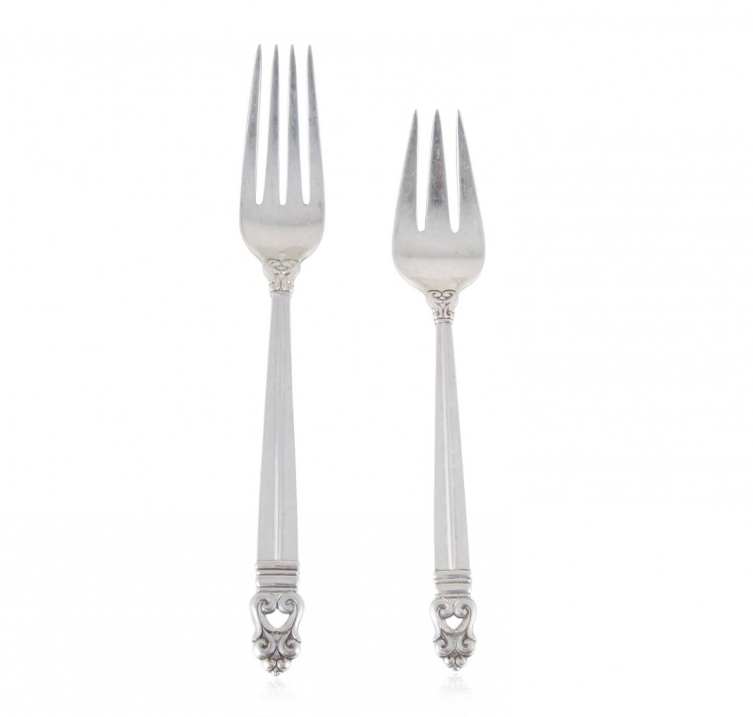Sterling International Royal Danish Silverware Service - 4