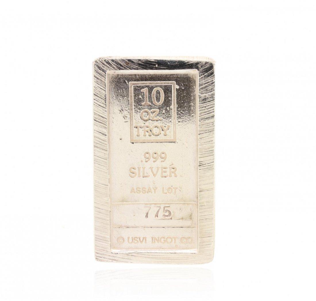 USVI Ingot Co. 10 Troy Oz Silver Bullion GB4774