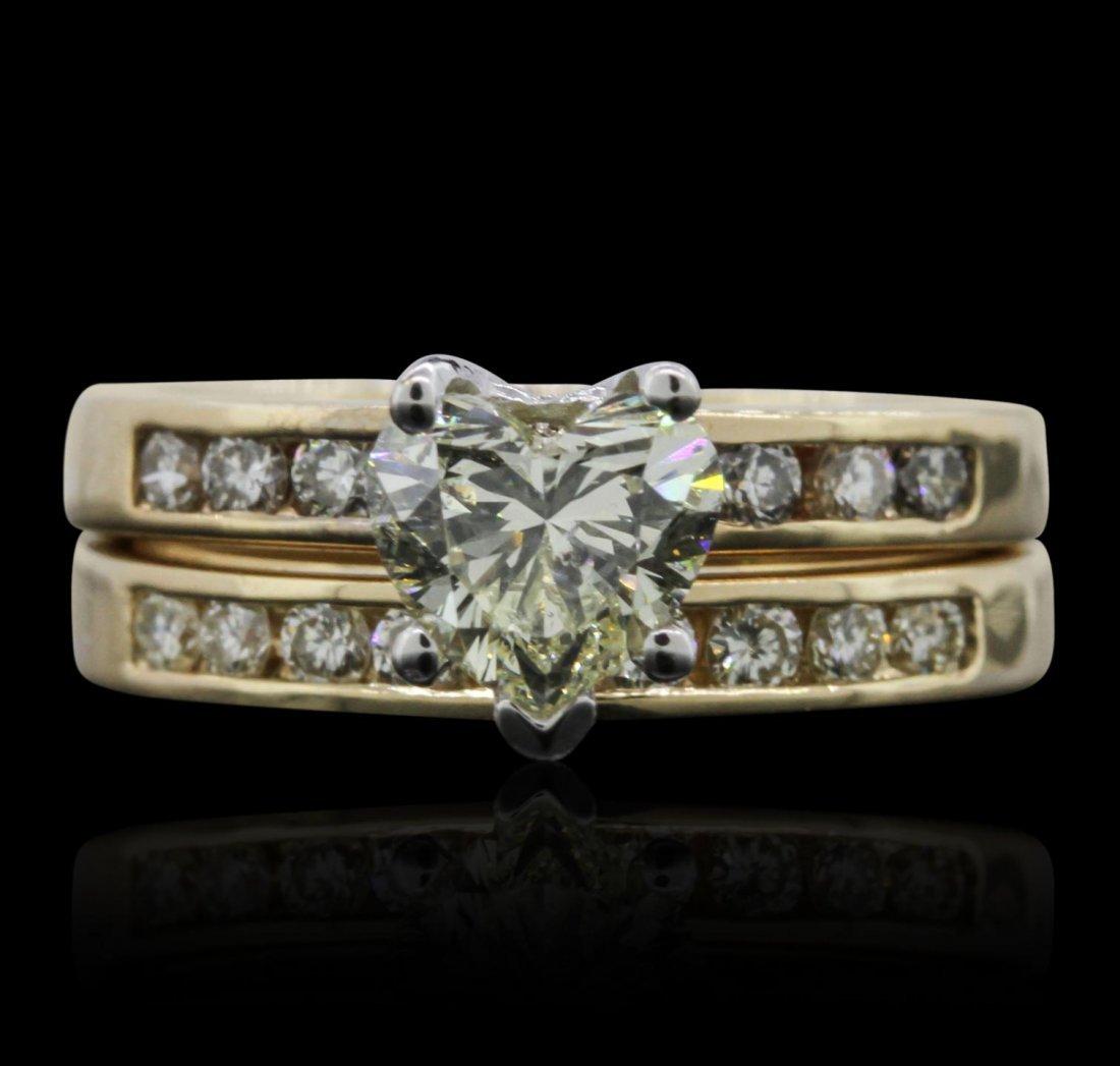 14KT Yellow Gold 1.42ctw Diamond Wedding Set A7880