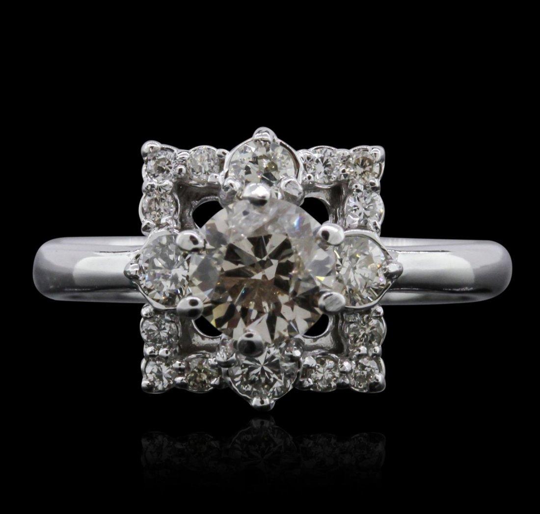 14KT White Gold 1.37ctw Diamond Ring A7863