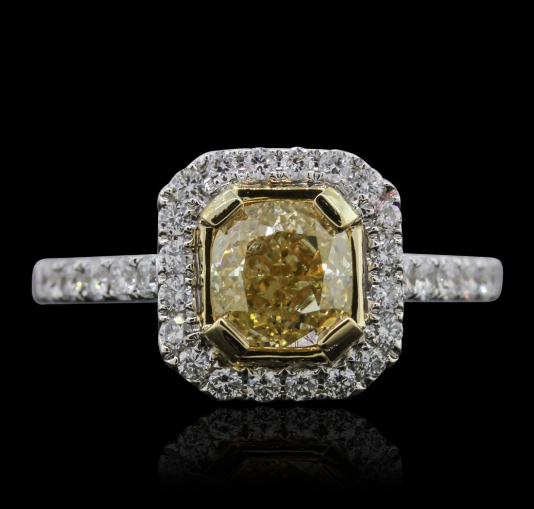 18KT White Gold 1.98ctw Diamond Ring A7945