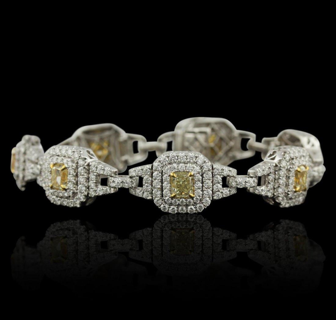 18KT White Gold 14.55ctw Diamond Bracelet HK26