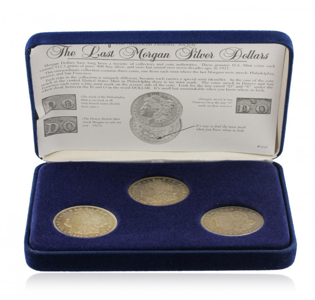 The Last Morgan Silver Dollars Collection SCE1475