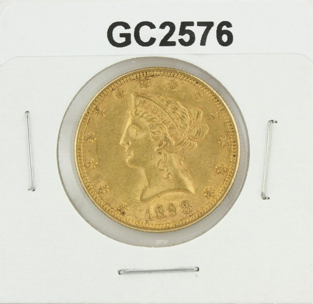 1898 $10 Liberty Head Eagle Coin GC2576