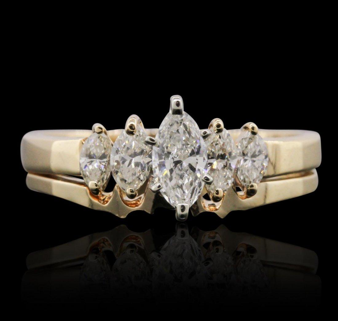 14KT Yellow Gold 1.06ctw Diamond Ring GF47