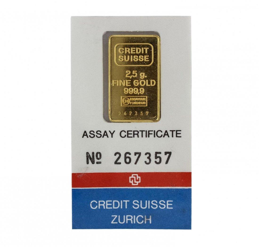 24KT Yellow Gold Assay Certified 2.50 Gram Suisse