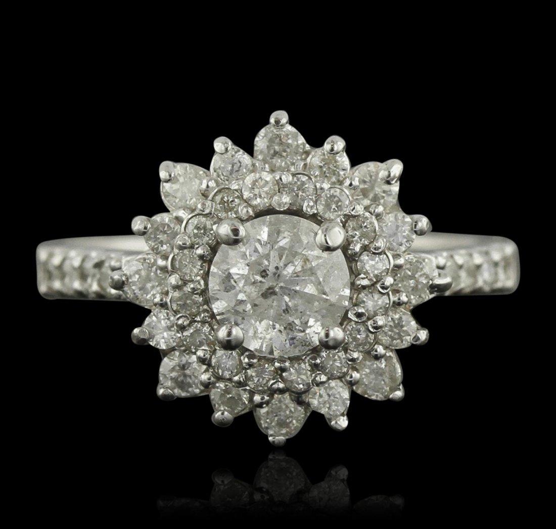 14KT White Gold 1.49ctw Diamond Ring A9315