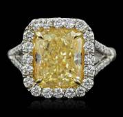 Platinum and 18KT Yellow Gold 5.91ctw EGL USA Certified