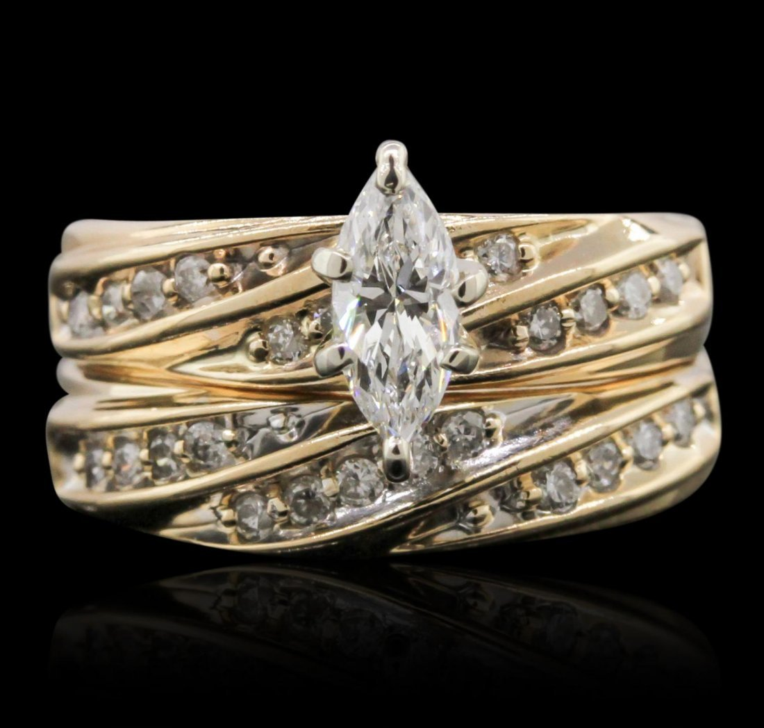 14KT Yellow Gold 0.50ctw Diamond Ring GF37