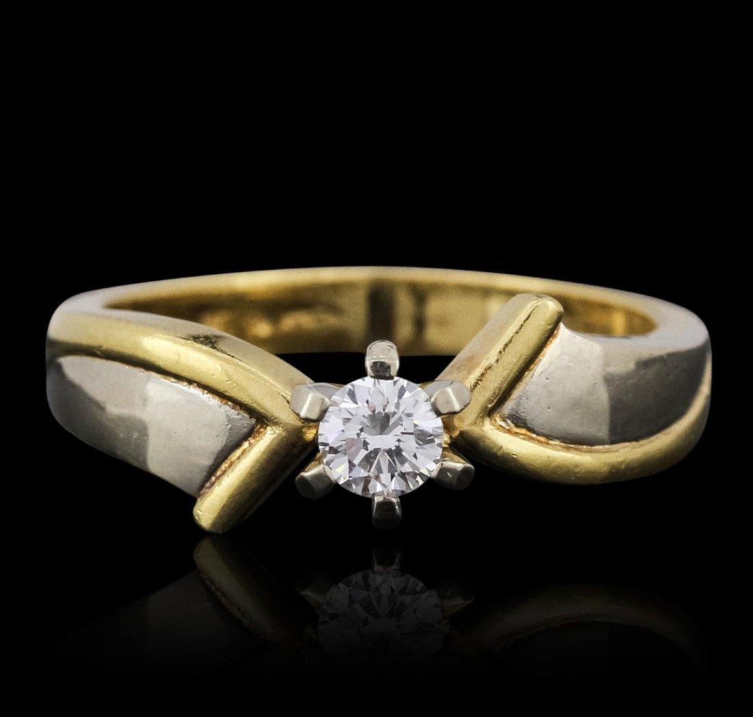 18KT Yellow Gold 0.20ct Diamond Ring BC140