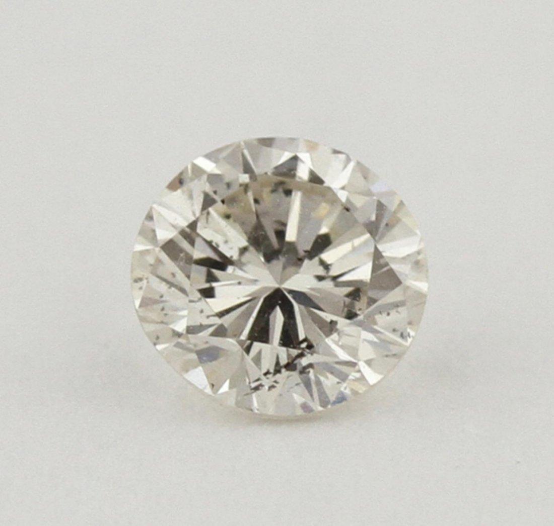 GIA Certified 0.46ct SI-1/J Round Cut Loose Diamond