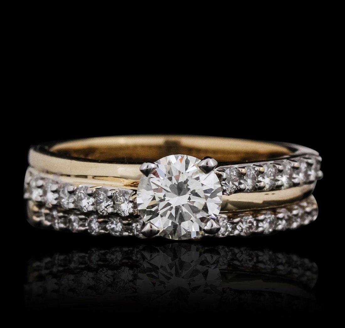 14KT Yellow Gold 1.34ctw Diamond Wedding Set SJP8