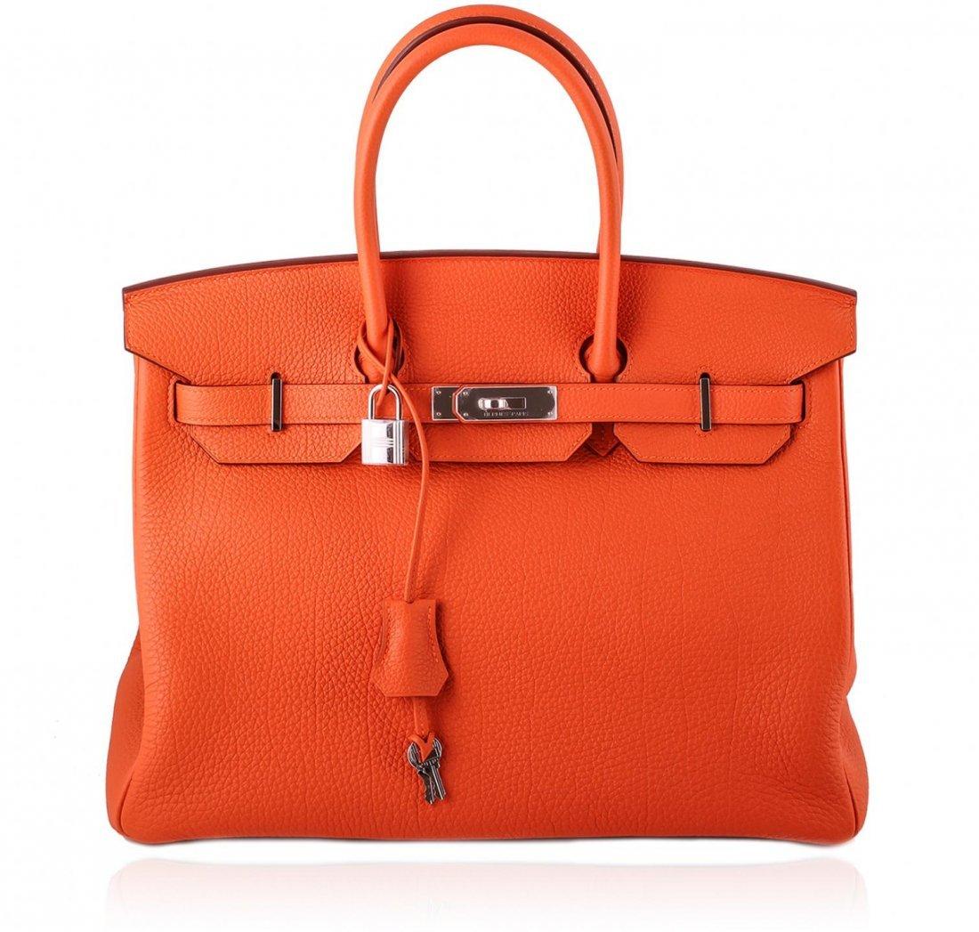 Authentic BNIB Hermes 35cm Birkin in Orange TOGO