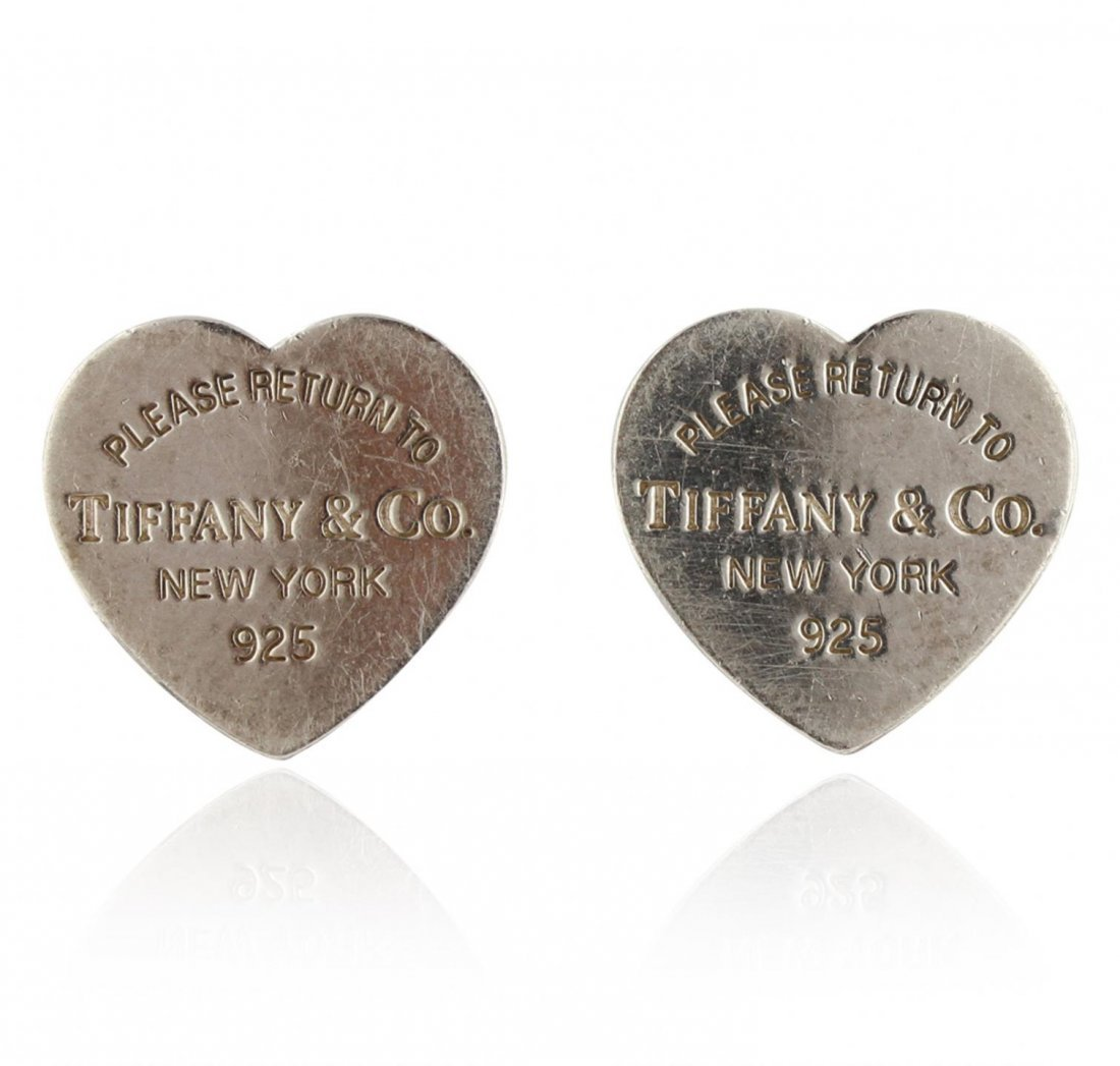 3abd62ad2 Tiffany & Co Heart Shaped Earrings GB3099 - Aug 21, 2014 | Seized Assets  Auctioneers in CA