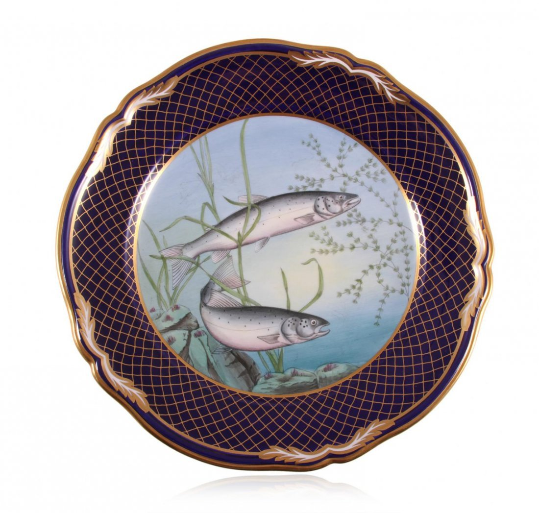 Spode Limited Edition Hand Painted Fish Plates JRM230