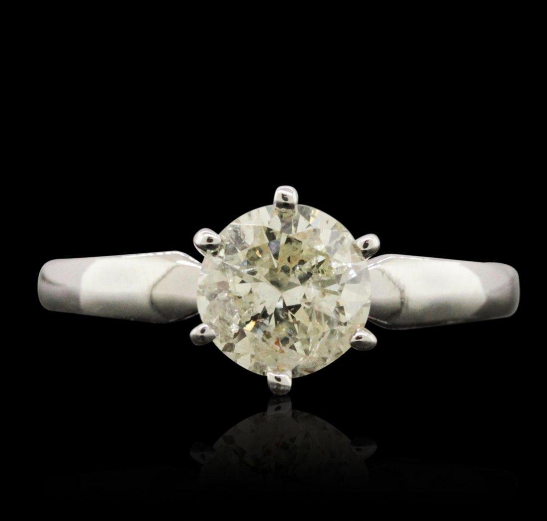 14KT White Gold 1.05ct Diamond Ring FJM3886