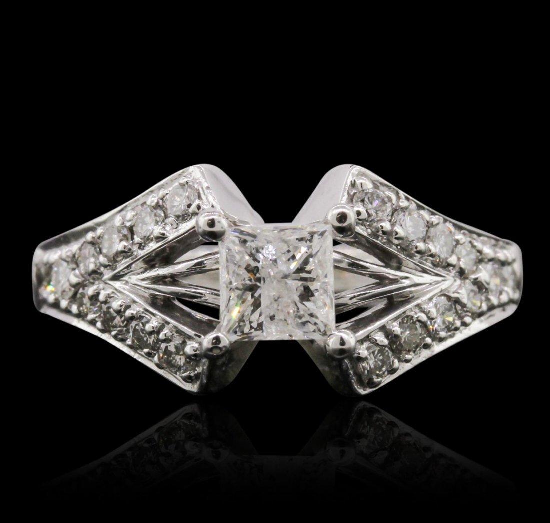 14KT White Gold 1.55ctw Diamond Ring A8882