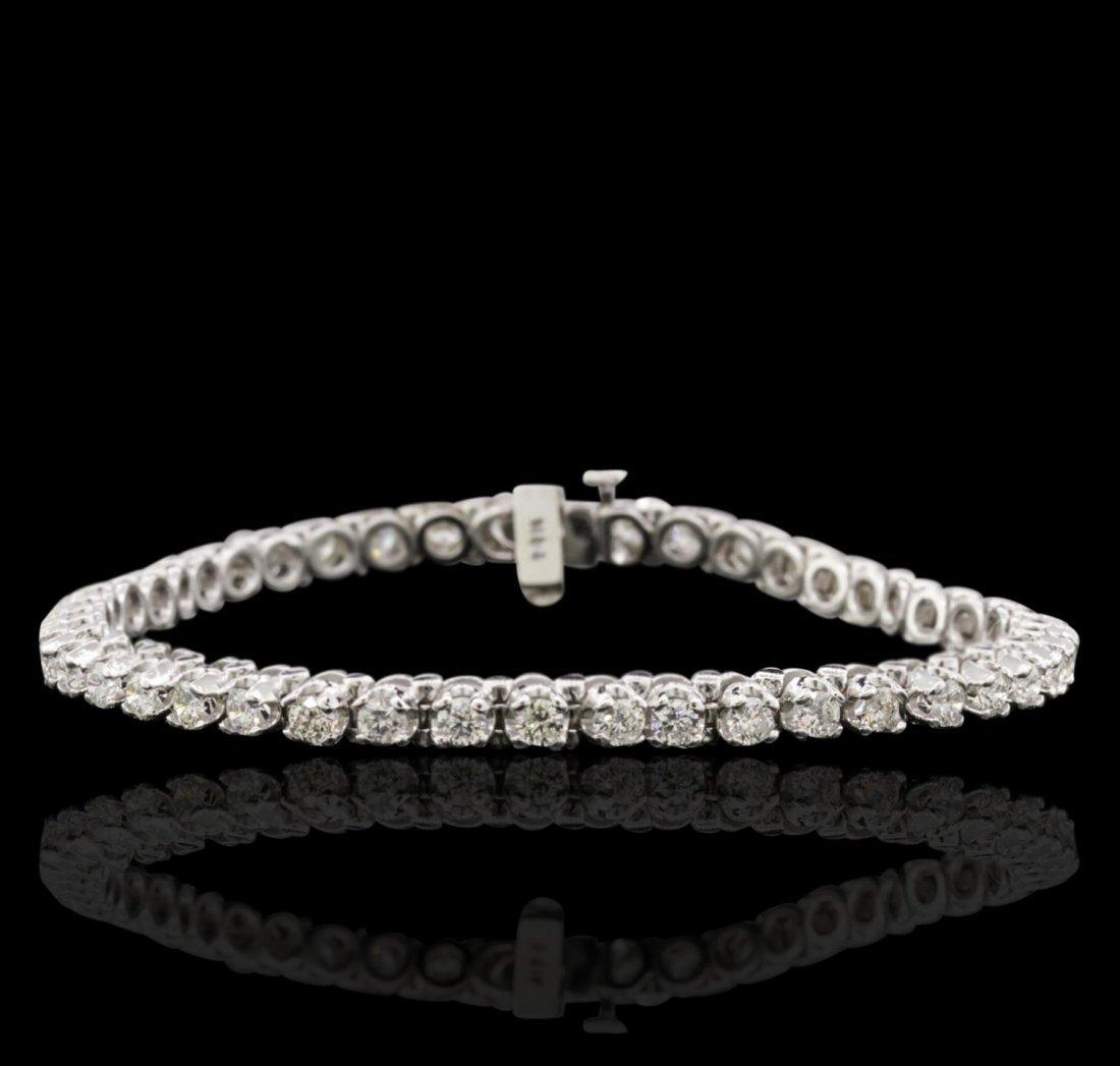 14KT White Gold 3.24ctw Diamond Bracelet A10894