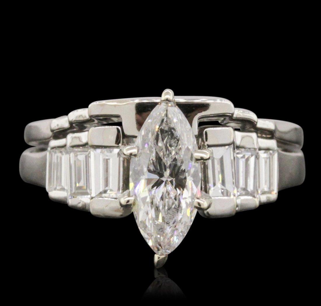 14KT White Gold EGL Certified 1.70ctw Diamond Ring