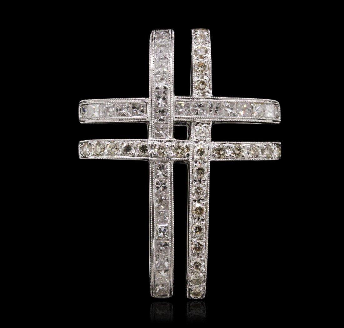 18KT White Gold 2.69ctw Diamond Pendant JS13