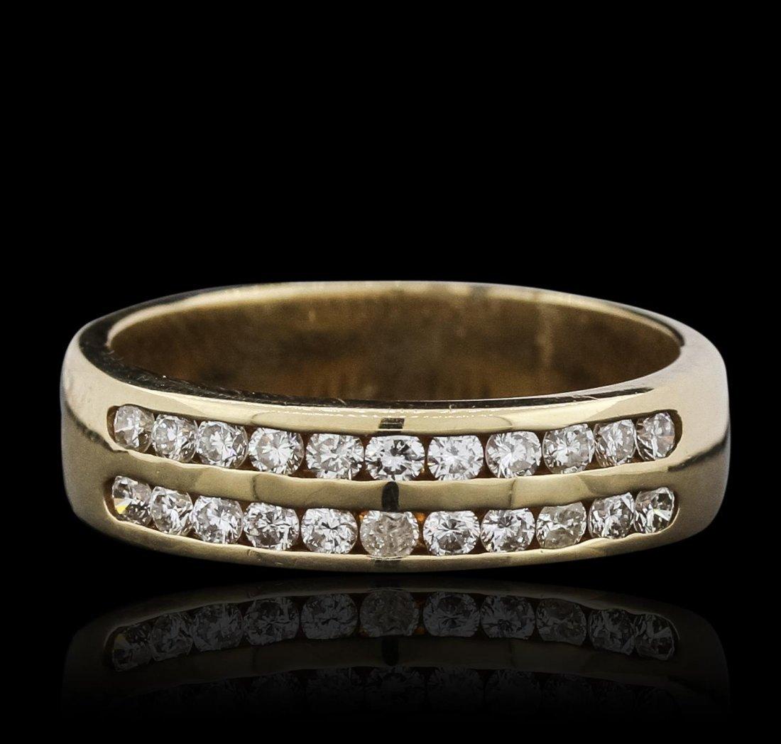 14KT Yellow Gold 0.27ctw Diamond Ring