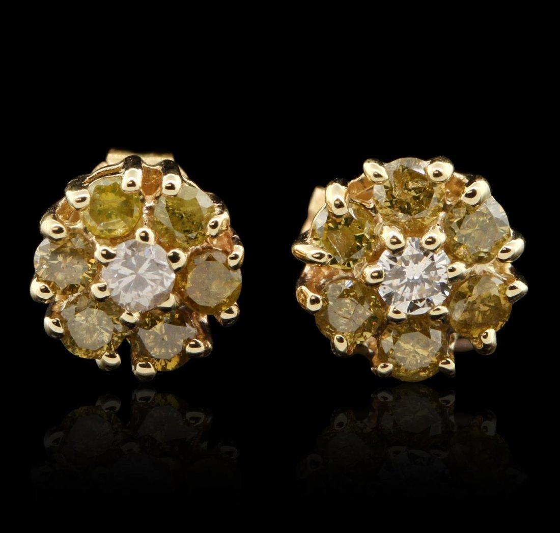 14KT Yellow Gold 0.06ctw Diamond Earrings