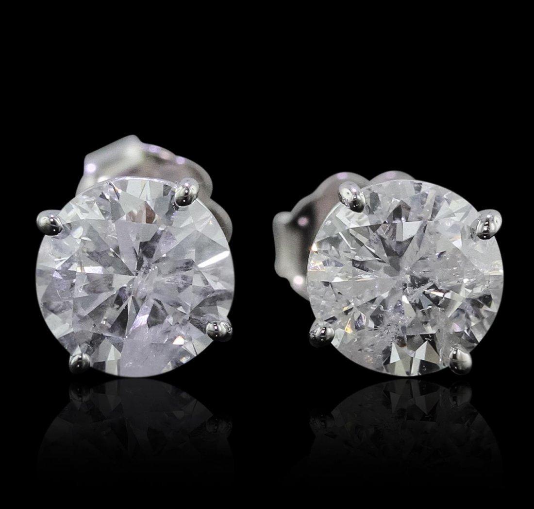 14KT White Gold 2.13ctw Diamond Stud Earrings