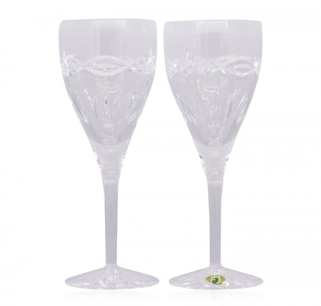 Waterford Crystal Dolmen Goblet Wine Glasses