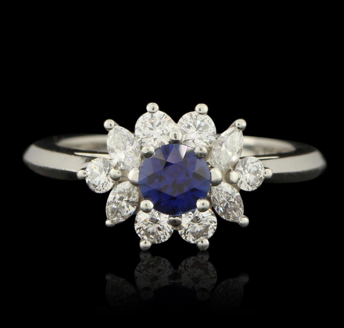 Platinum Tiffany & Co 0.58ctw Sapphire & 0.54ctw