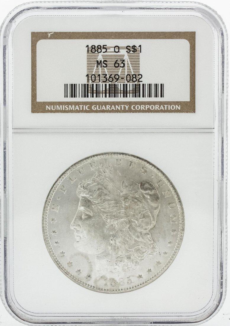 1885-O NGC MS63 Morgan Silver Dollar Coin