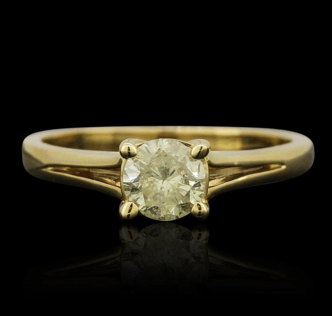 14KT Yellow Gold 0.57ct Brilliant Cut Diamond Ring