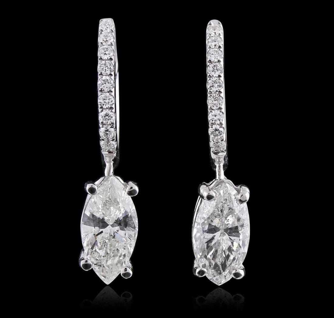 18KT White Gold 2.54ctw Diamond Earrings